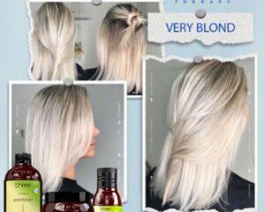 very blond
